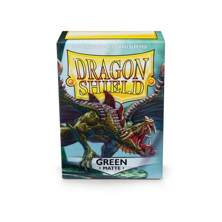 Dragon Shield Sleeves Matte Green 100CT Standard Size
