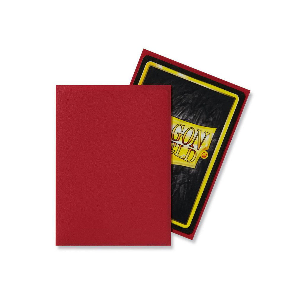 Dragon Shield Sleeves Matte Red 100CT Standard Size