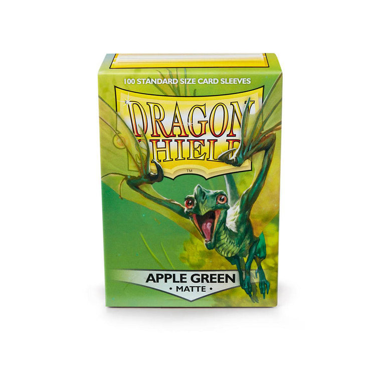 Dragon Shield Sleeves Matte Apple Green 100CT Standard Size