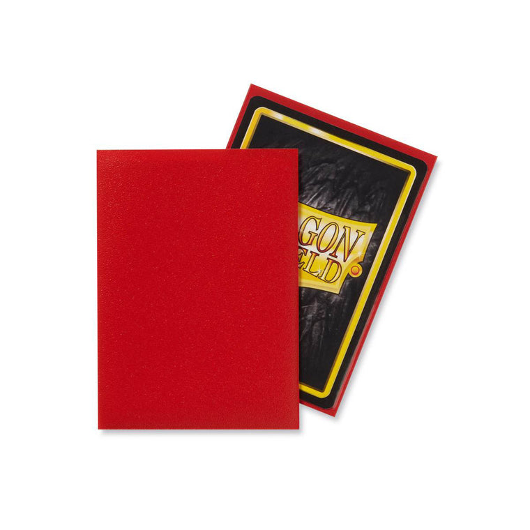 Dragon Shield Sleeves Matte Crimson 60CT Standard Size