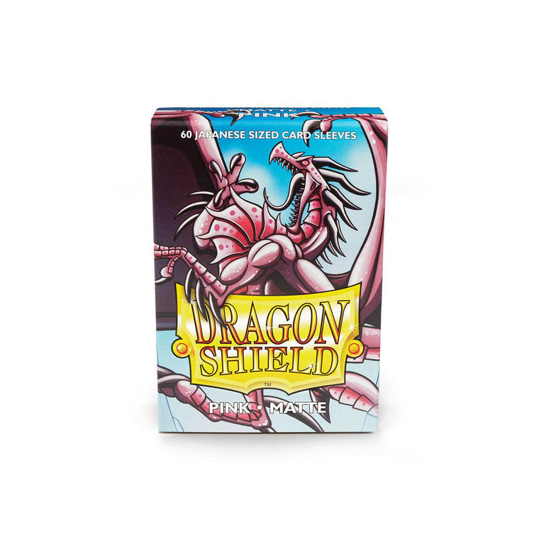Dragon Shield Sleeves Matte Pink 60CT Japanese Size