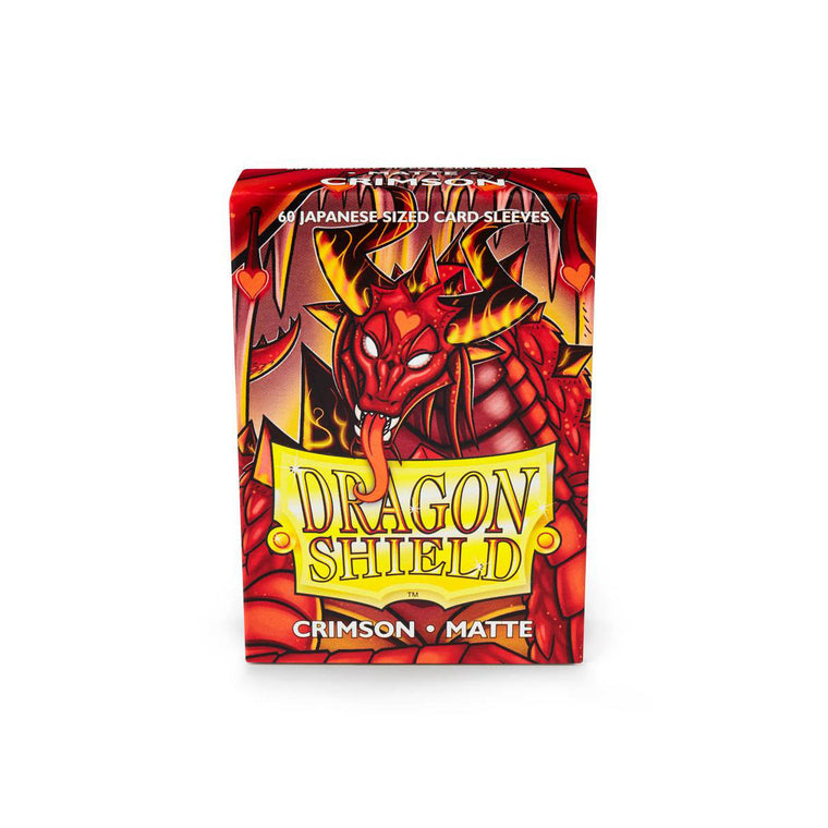 Dragon Shield Sleeves Matte Crimson 60CT Japanese Size