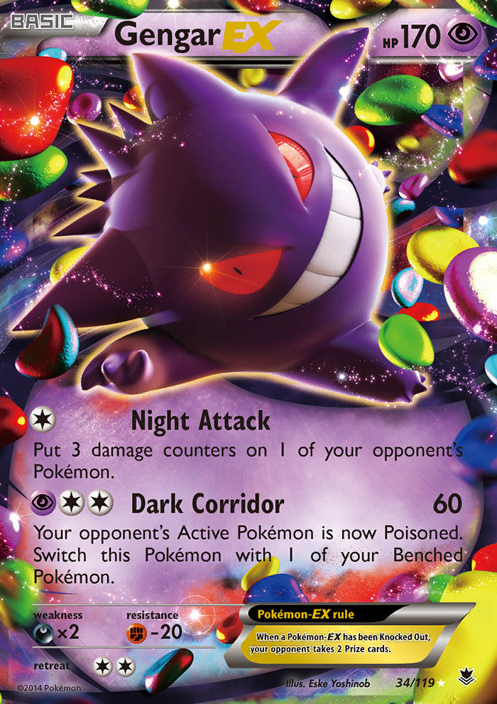 Phantom Forces Gengar EX - 34/119 - Holo Rare