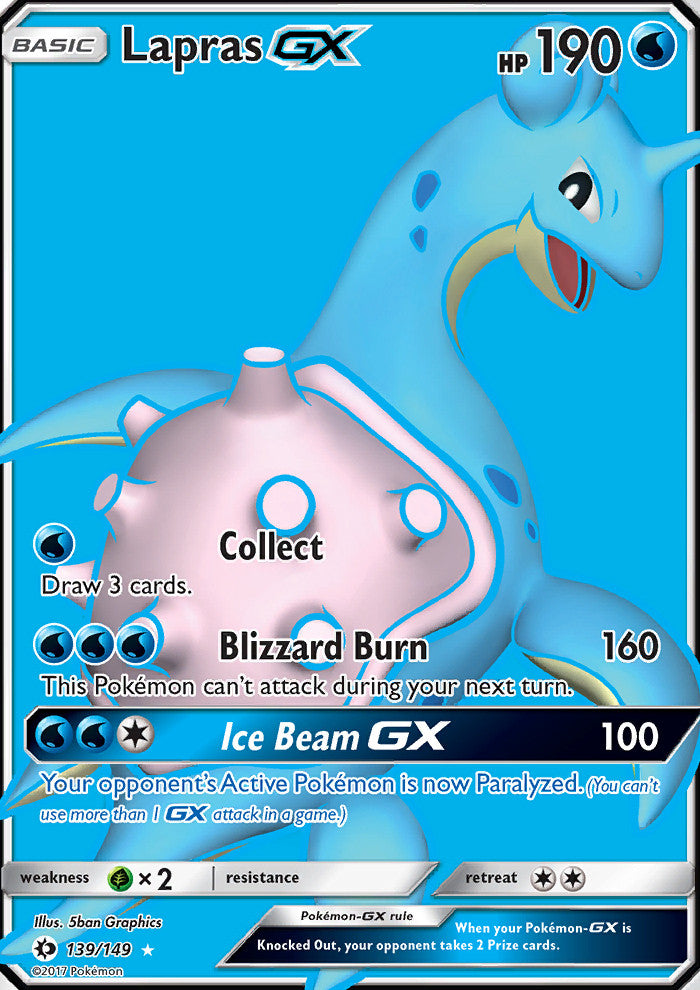 Sun & Moon - Lapras GX - 139/149 - Full Art Ultra Rare