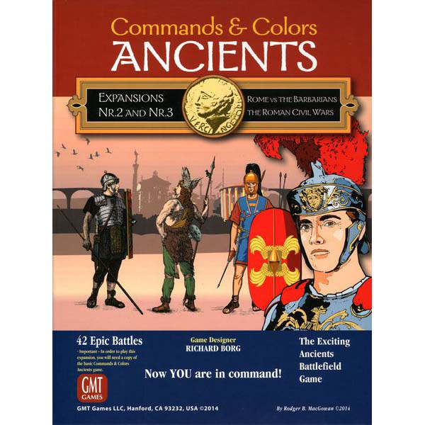 Commands & Colors Ancients Expansion 2 & 3 Rome vs The Barbarians The Roman Civil Wars
