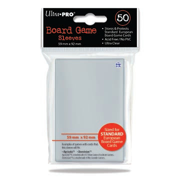Ultra Pro European 59mm x 92mm Sleeves 50CT