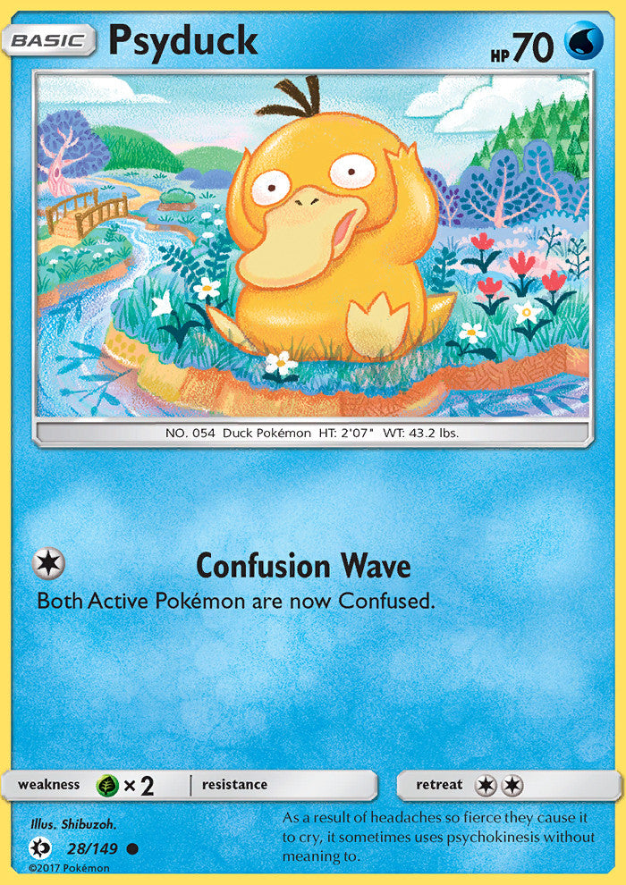 Sun & Moon - Psyduck - 28/149 - Common - Reverse Holo