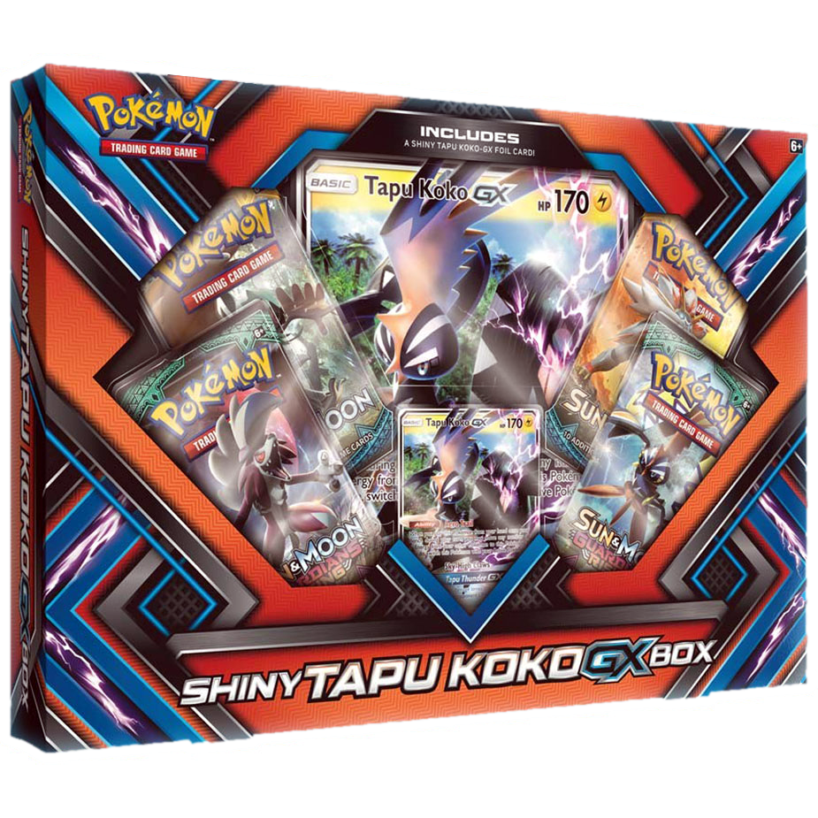 Pokémon Shiny Tapu Koko GX Box