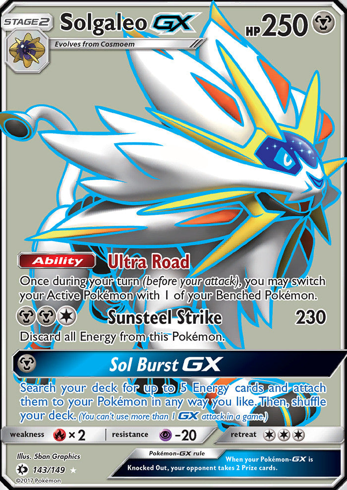 Sun & Moon - Solgaleo GX - 143/149 - Full Art Ultra Rare