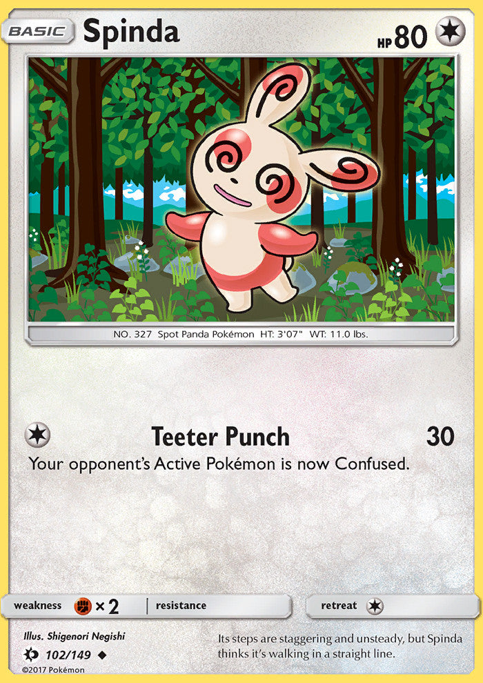 Sun & Moon - Spinda - 102/149 - Uncommon