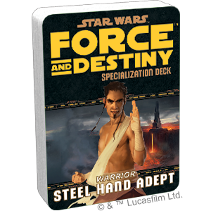 Star Wars Force and Destiny Steel Hand Adept Specialization Deck