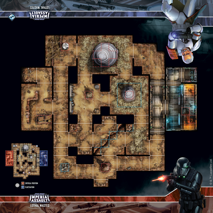 Star Wars: Imperial Assault - Lothal Wastes Skirmish Map