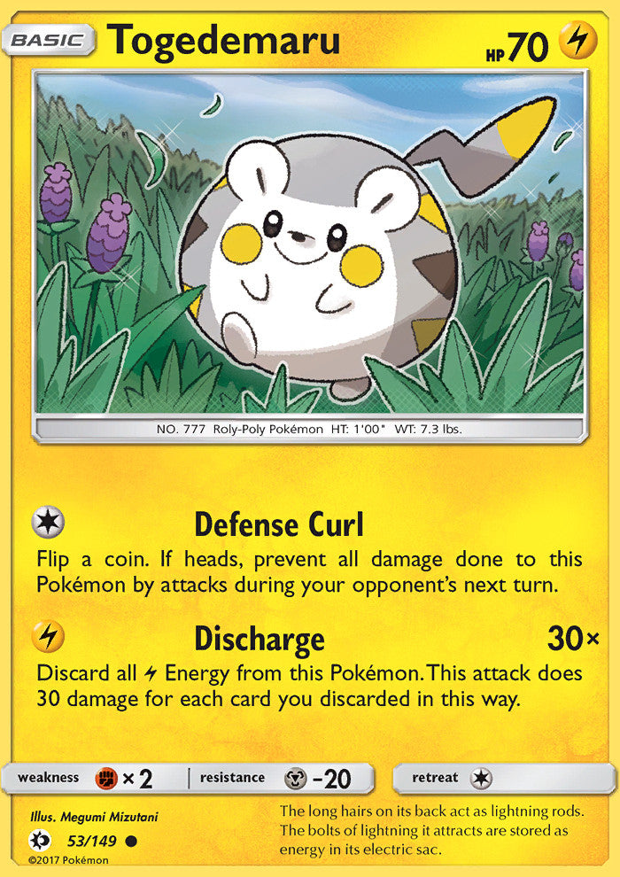 Sun & Moon - Togedemaru - 53/149 - Common
