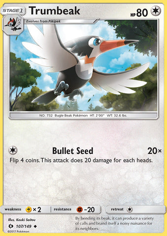 Sun & Moon - Trumbeak - 107/149 - Uncommon - Reverse Holo