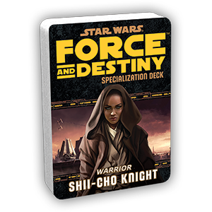 Star Wars Force and Destiny Shii-Cho Knight Specialization Deck