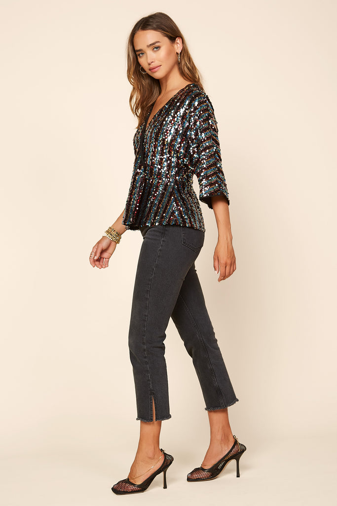 Rainbow Sequin Top