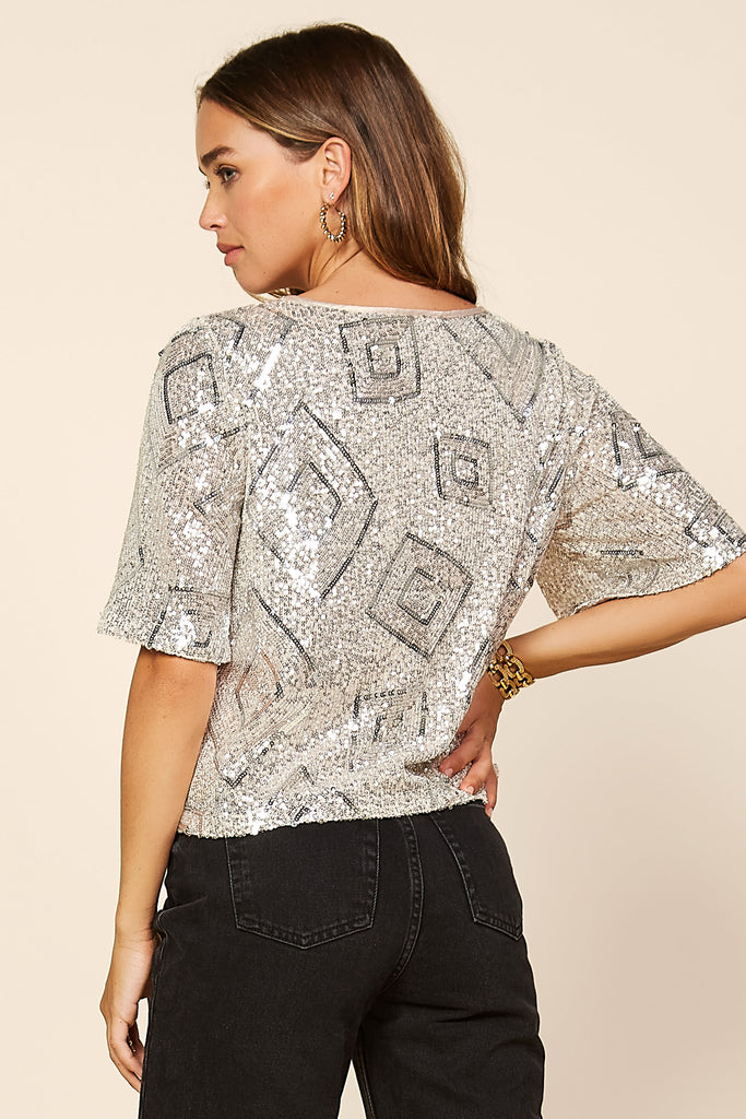 Sequin Diamond Top