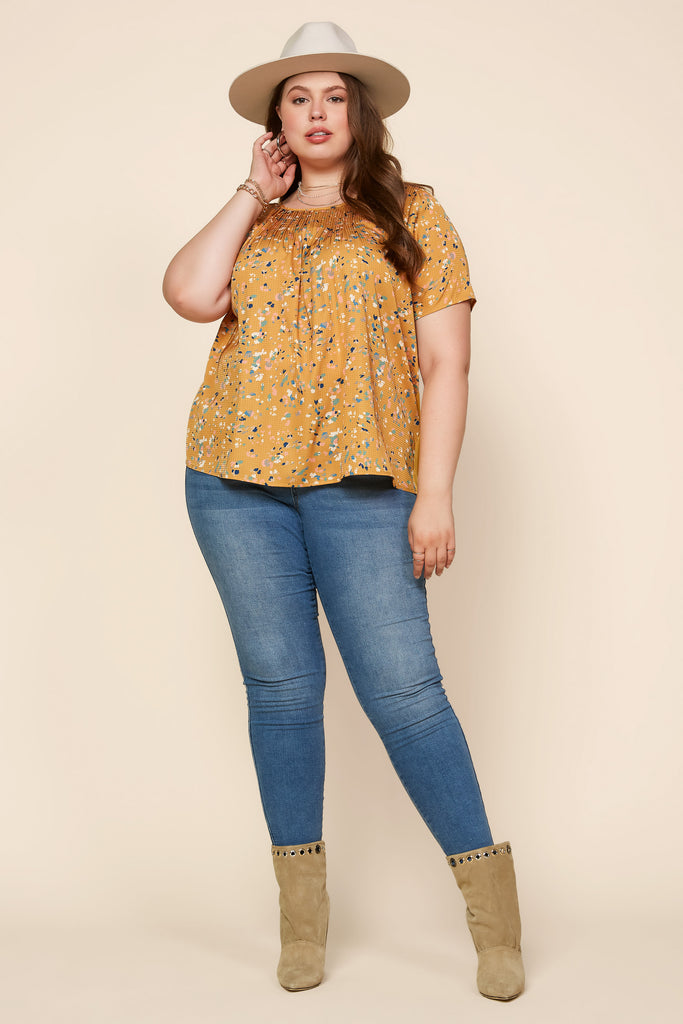 Plus Size - Confetti Jersey Back Top