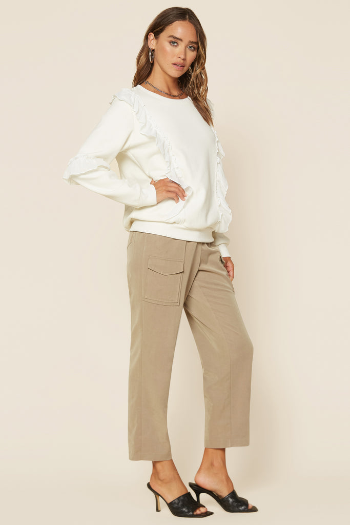 Patch Pocket Cropped Pants