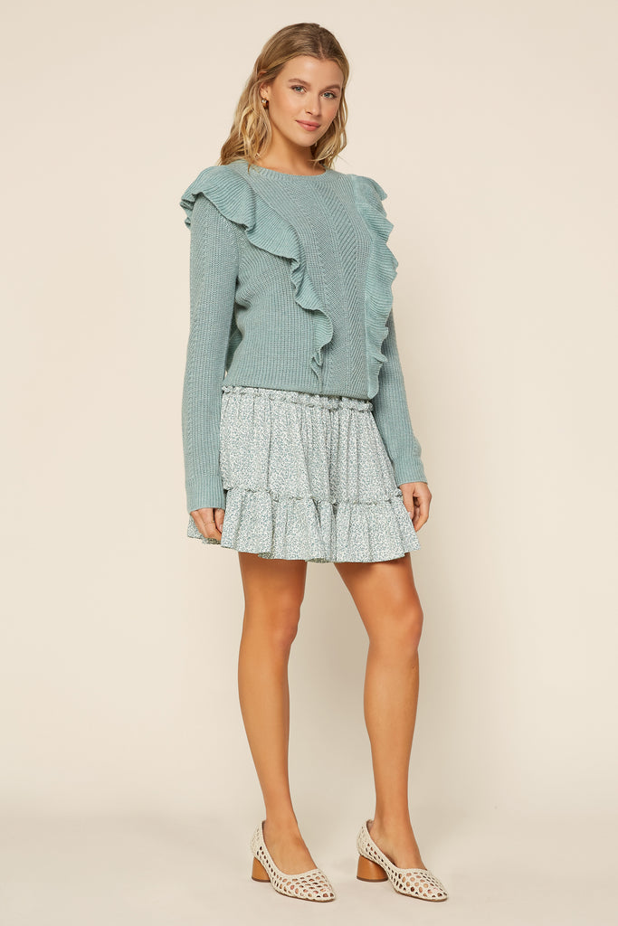Ruffle Knit Sweater