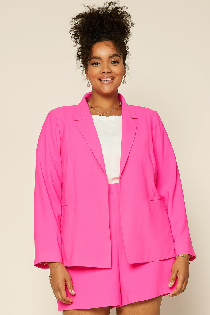Plus Size - Neon Welt Pocket Blazer
