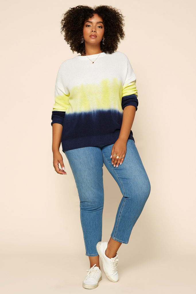 Plus Size - WATER COLOR Tie Dye Sweater