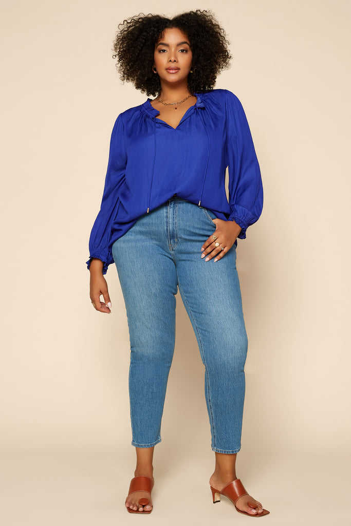 Plus Size - Sophia Ruffled Blouse