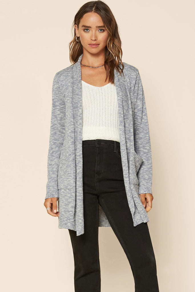 Melange Cardigan Sweater