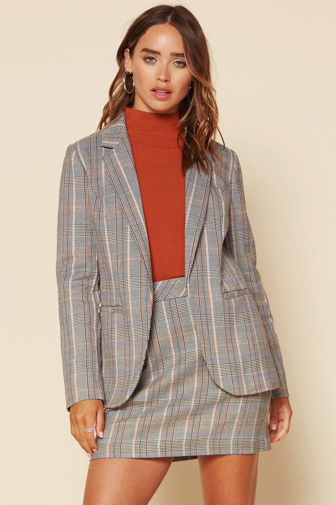 Plaid Blazer