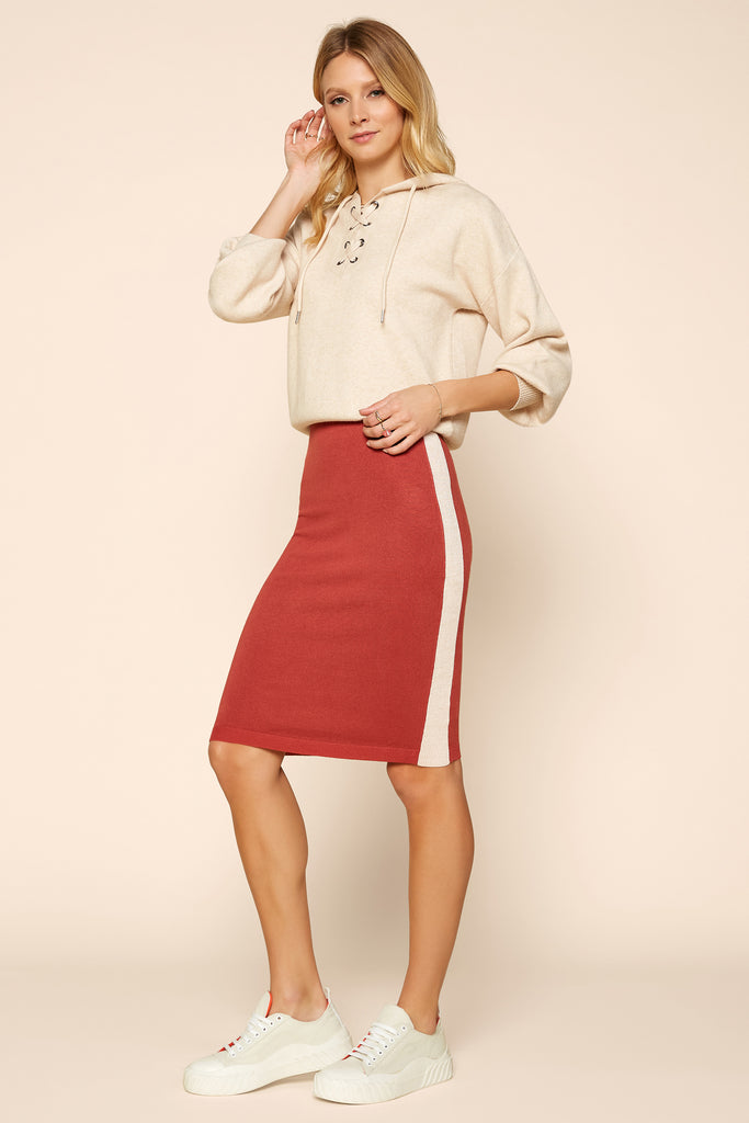 Knee Length Sweater Skirt