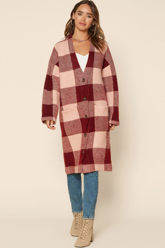 Buffalo Checkered Cardigan