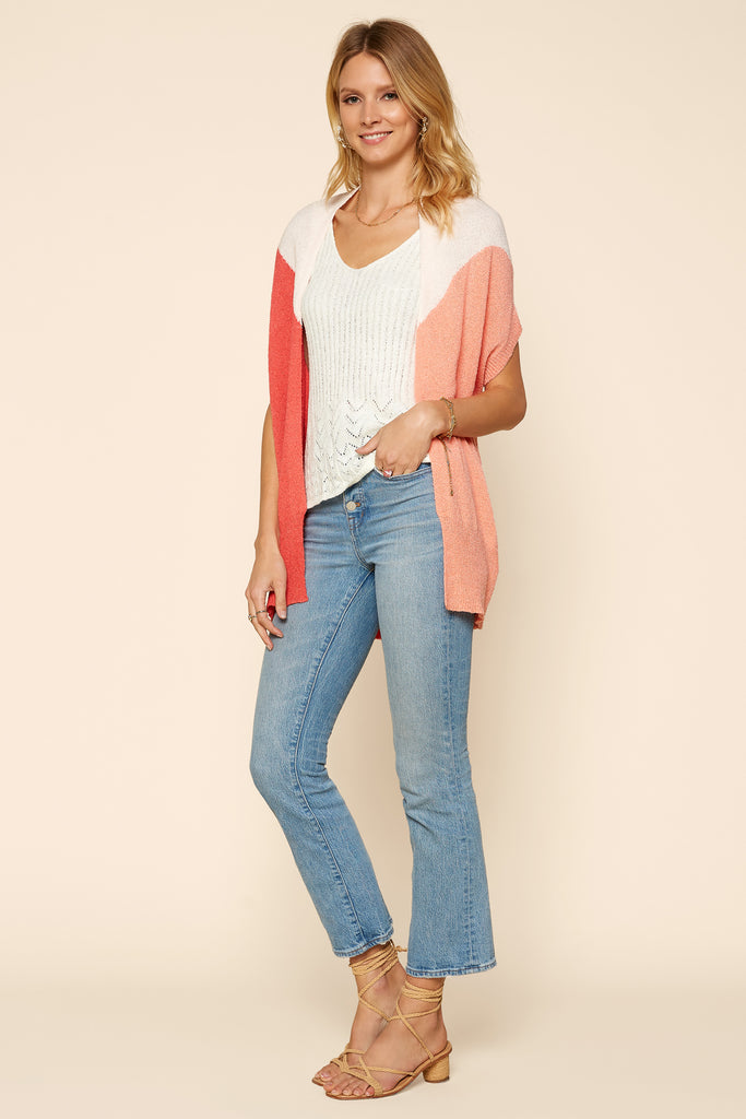 Color Block Dolman Cardigan