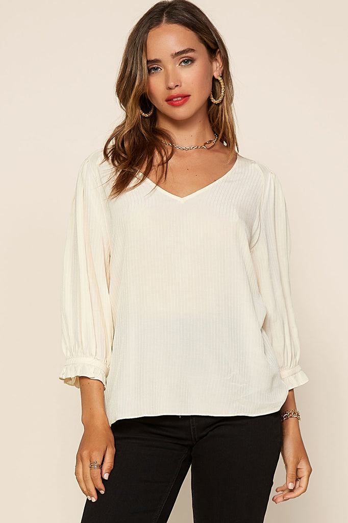 Stripe Textured Blouse