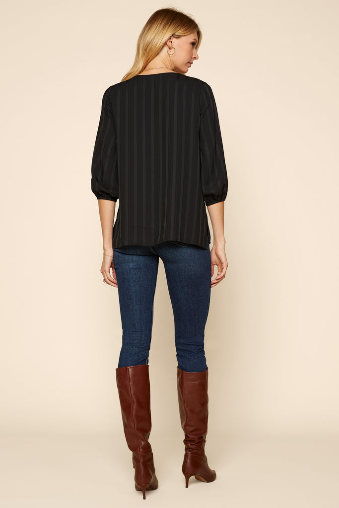 Woven Scoop Neck Blouse