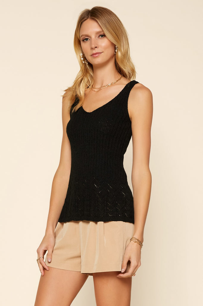 Soft Knit Pointelle Top