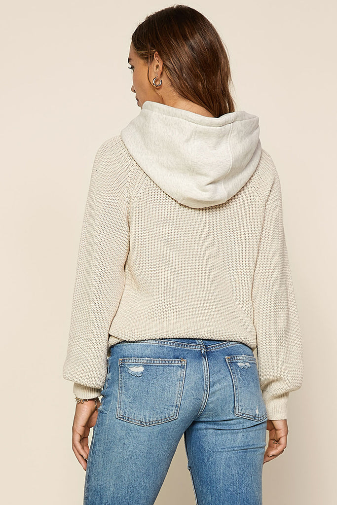 Oversized Knit Hoodie Sweater