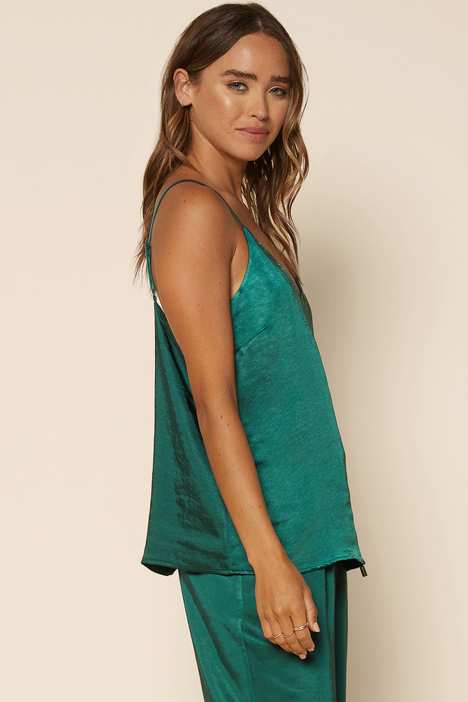 Satin Scalloped Cami Top