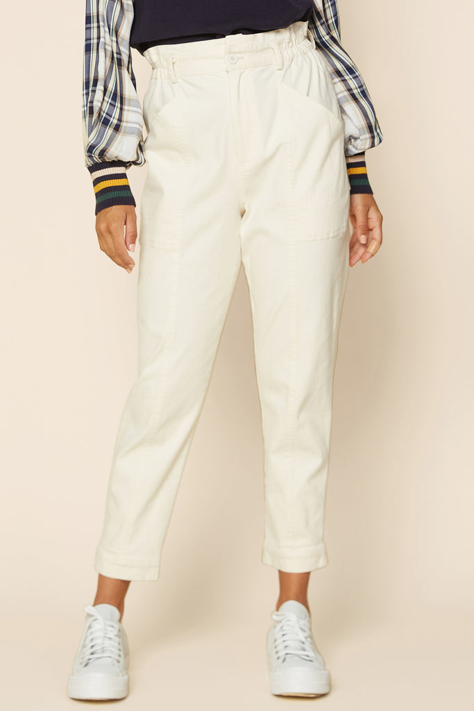 Stretch Cotton Utility Pants