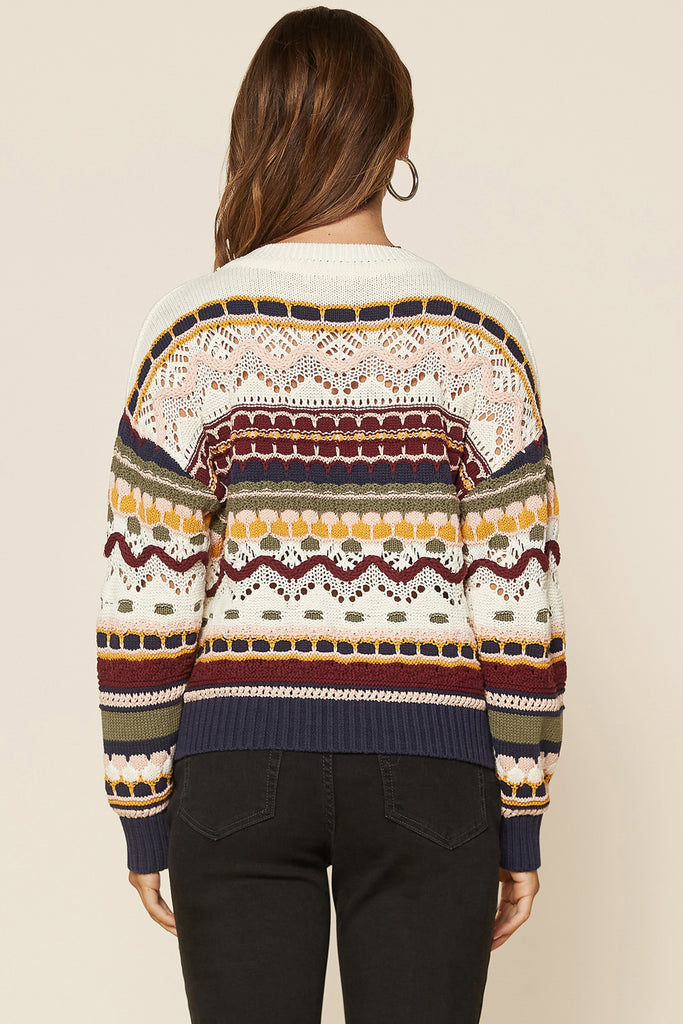 Multi Color Crochet Sweater