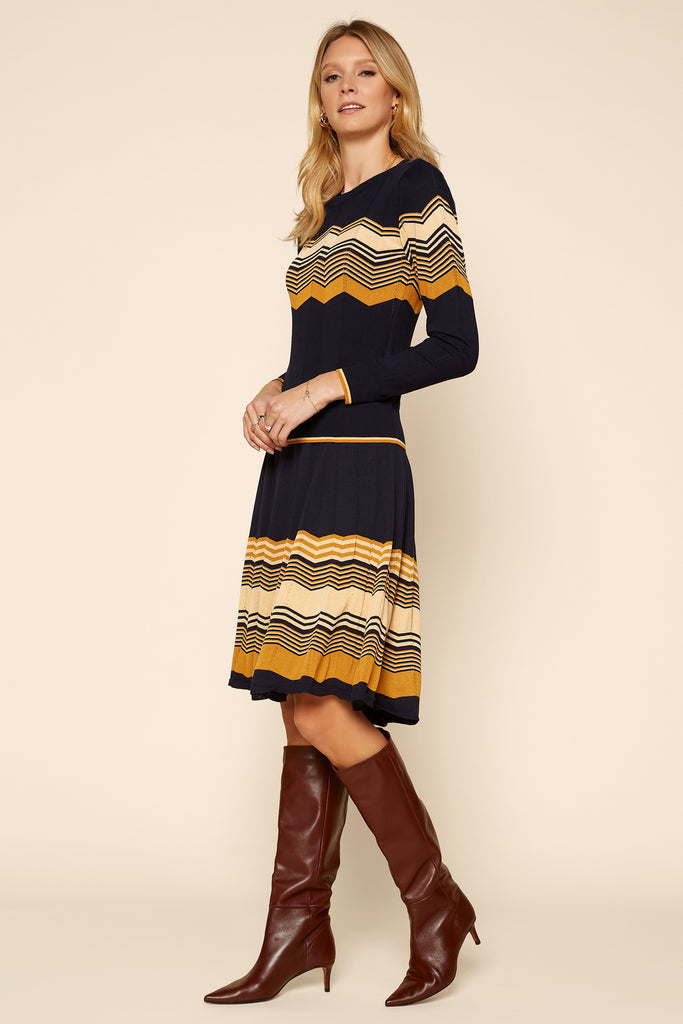 Chevron Pattern Knit Skirt