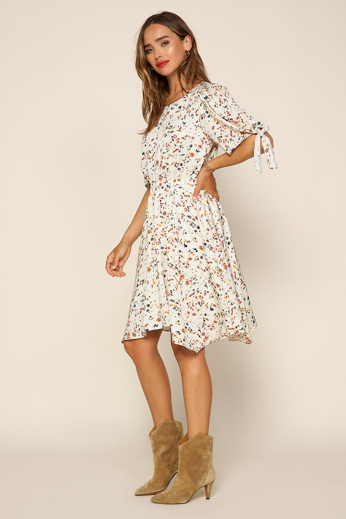 Confetti Asymmetrical Mini Dress