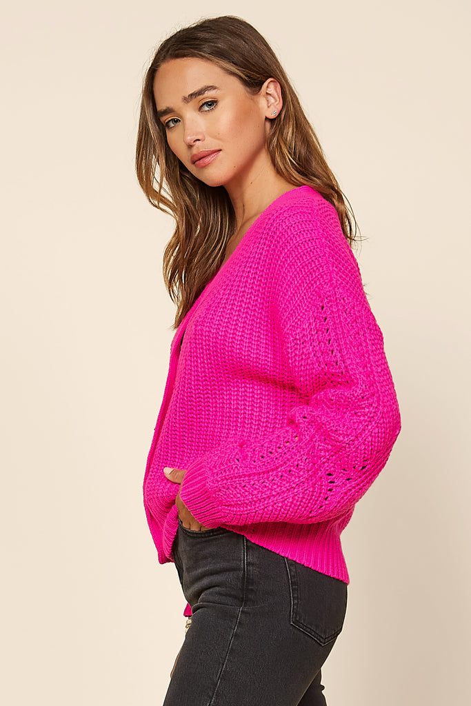 Slouchy Knit Sweater Cardigan