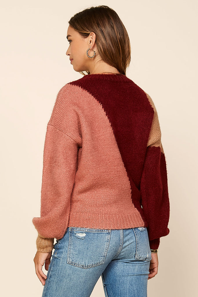 Abstract Color Block Sweater