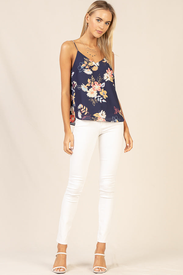 Floral Printed Cami Top