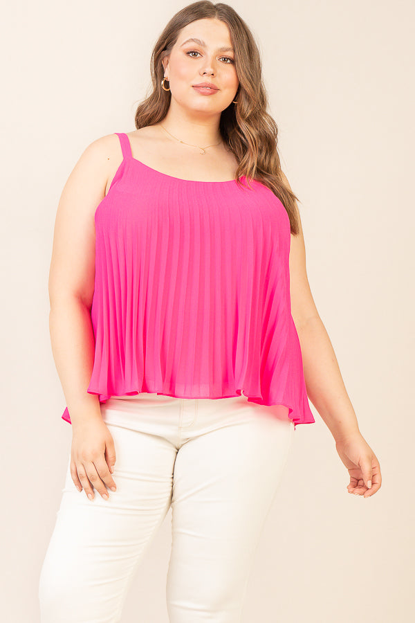 Plus Size - Pleated Cami Top