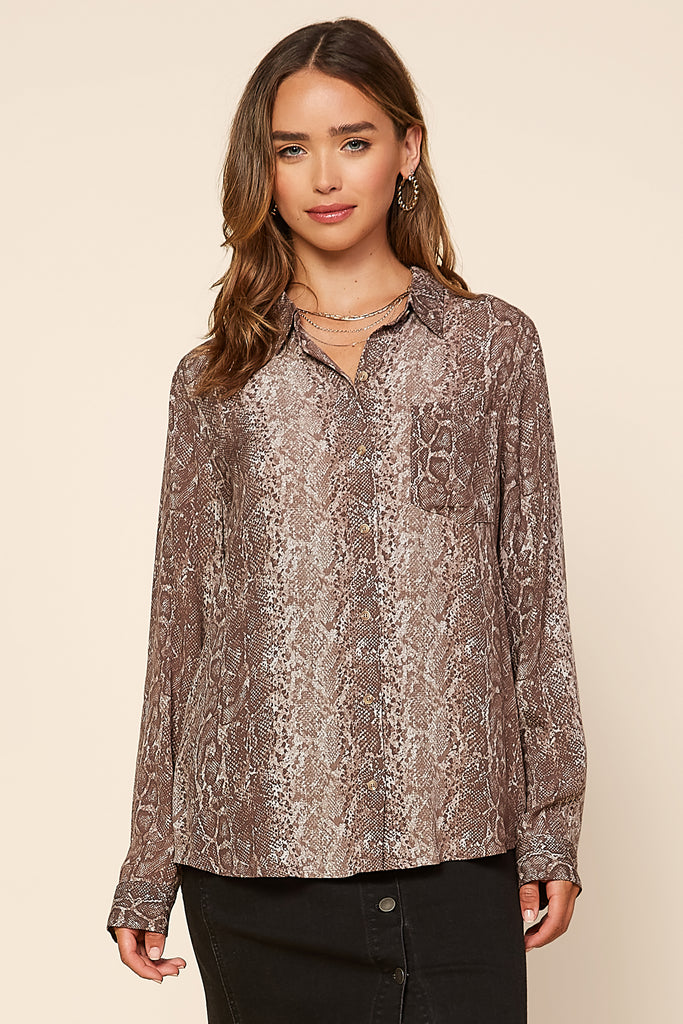 Python Print Button Down Shirt