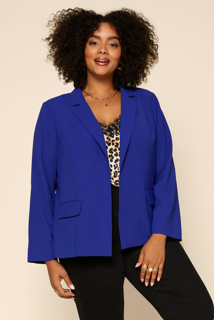 Plus Size - Welt Pocket Blazer