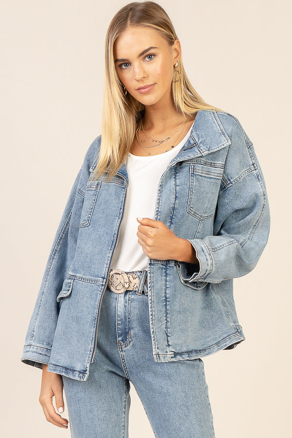 Denim Utility Jacket