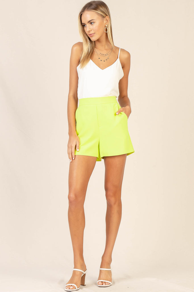 Neon Structured Shorts
