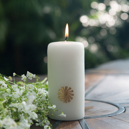 Embossed Signature Candle - White